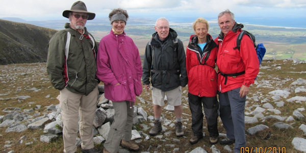 Sean Mullan with group of walkers on Muckish Mountain