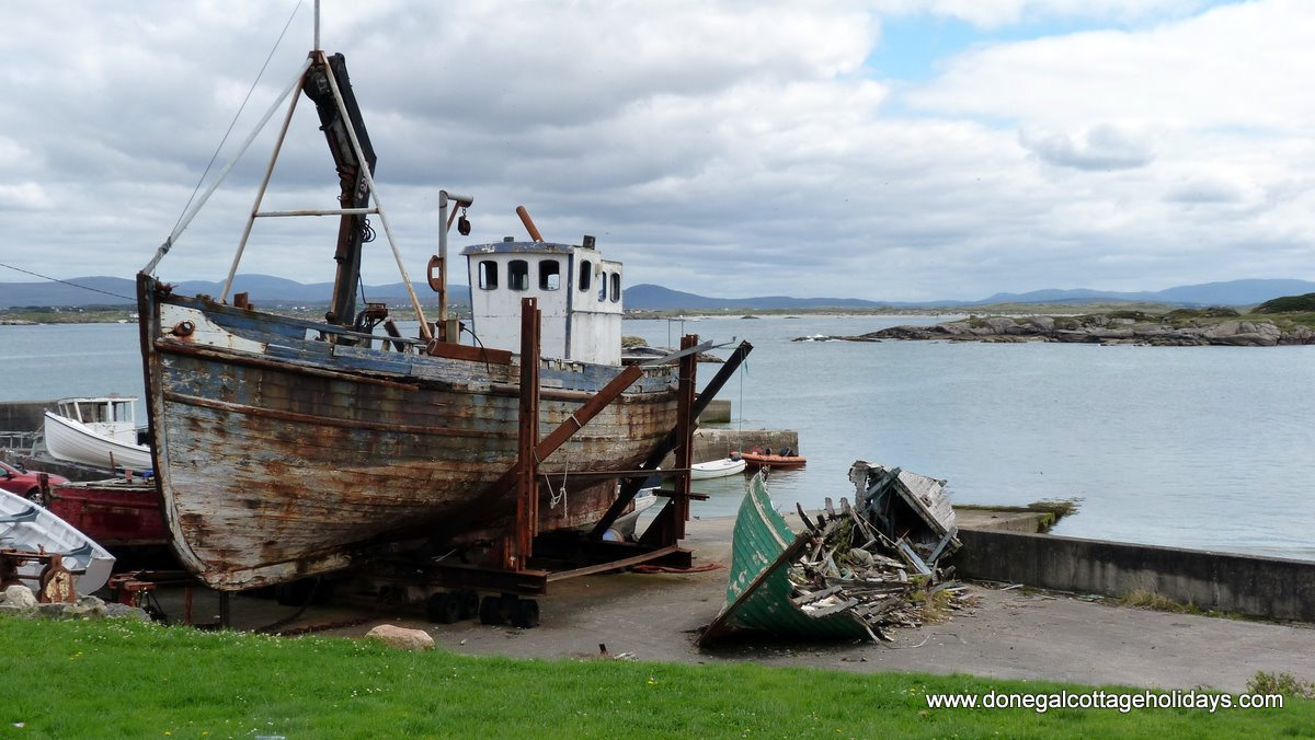 Old fishing boat on Aranmore Island