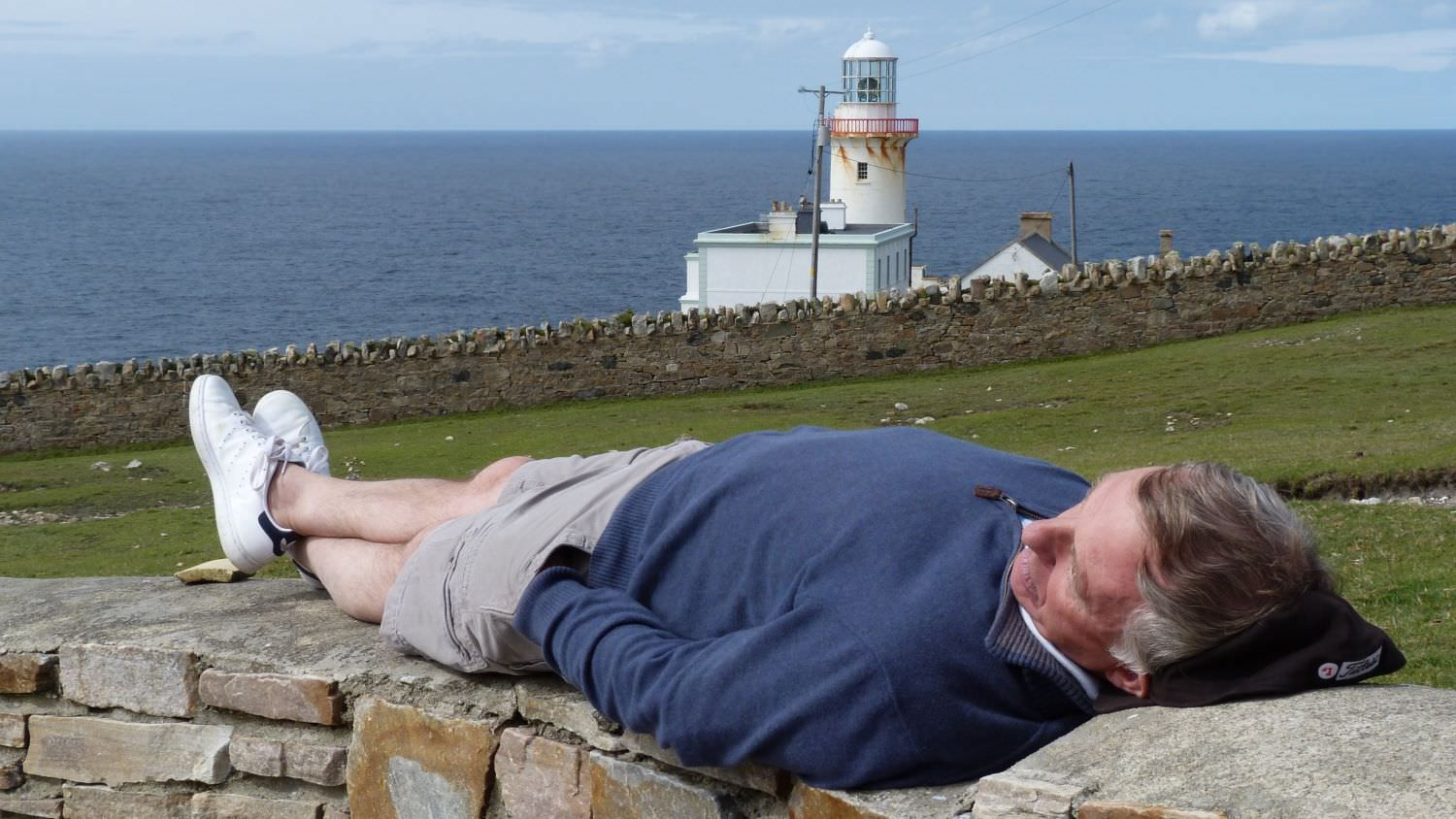 Relaxing at Arranmore Lighthouse