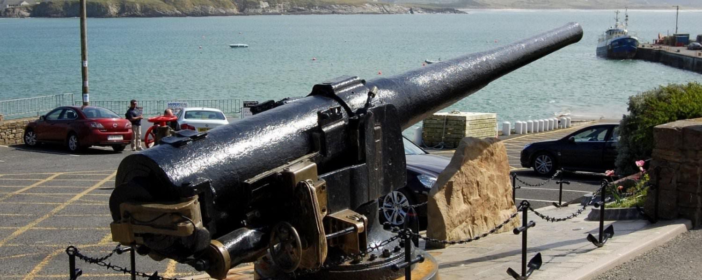 Laurentic Gun at Downings harbour
