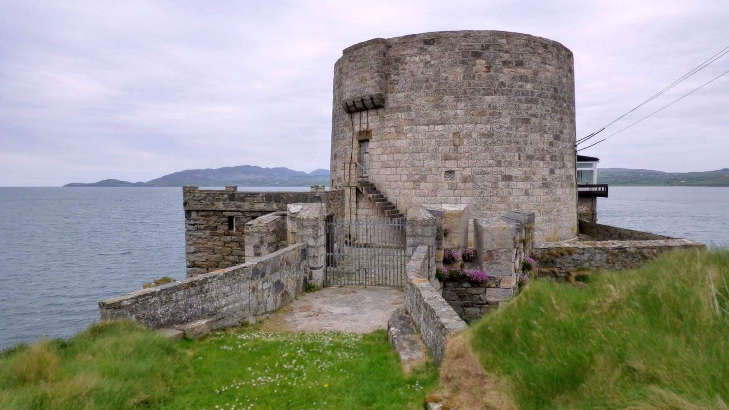 Macamish Fort on western shore of Lough Swilly