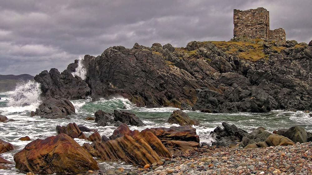 Carrickabraghy Castle on the Isle of Doagh in north Inishowen