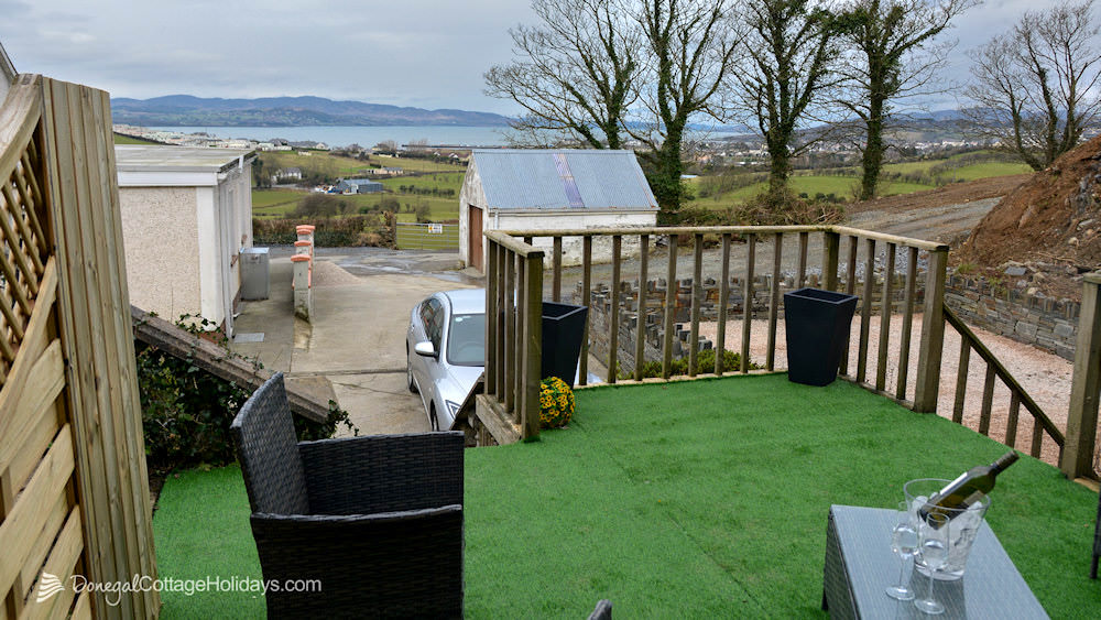 Shanton Self Catering Buncrana - view from wood deck