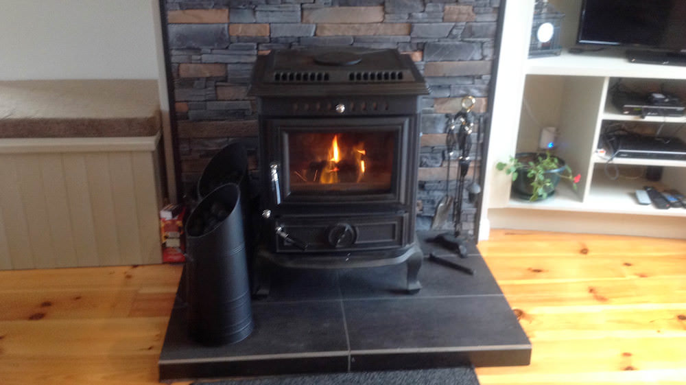 Glashedy View Ballyliffin - solid fuel stove