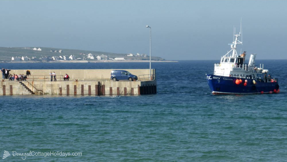 Magheroarty pier and Tory island ferry