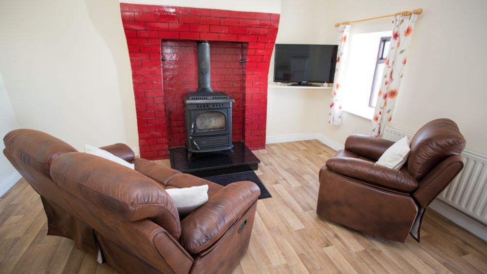 Living area of Buliban Cottage Malin Head Inishowen