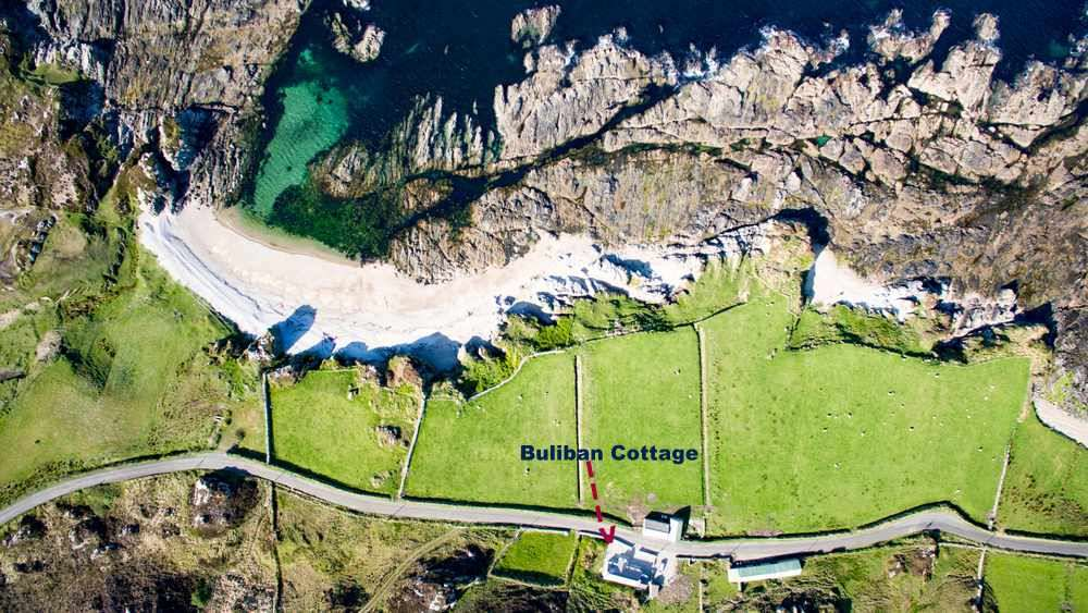 Aerial View - Buliban Cottage Malin Head Inishowen