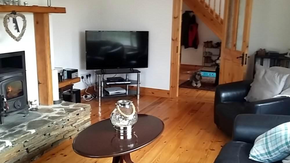 Straid Croi - Lounge with Wood Burner