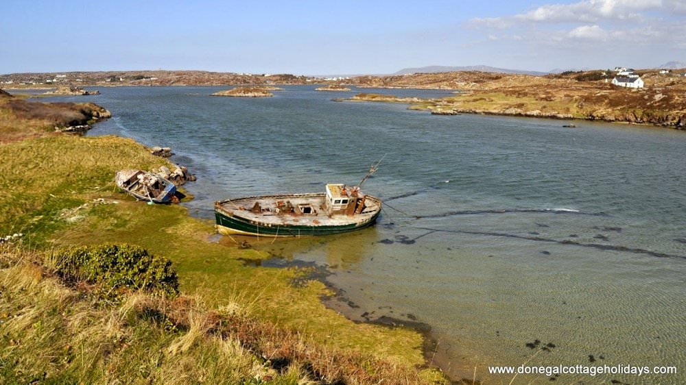 Old fishing boat near Cruit Island Cottage