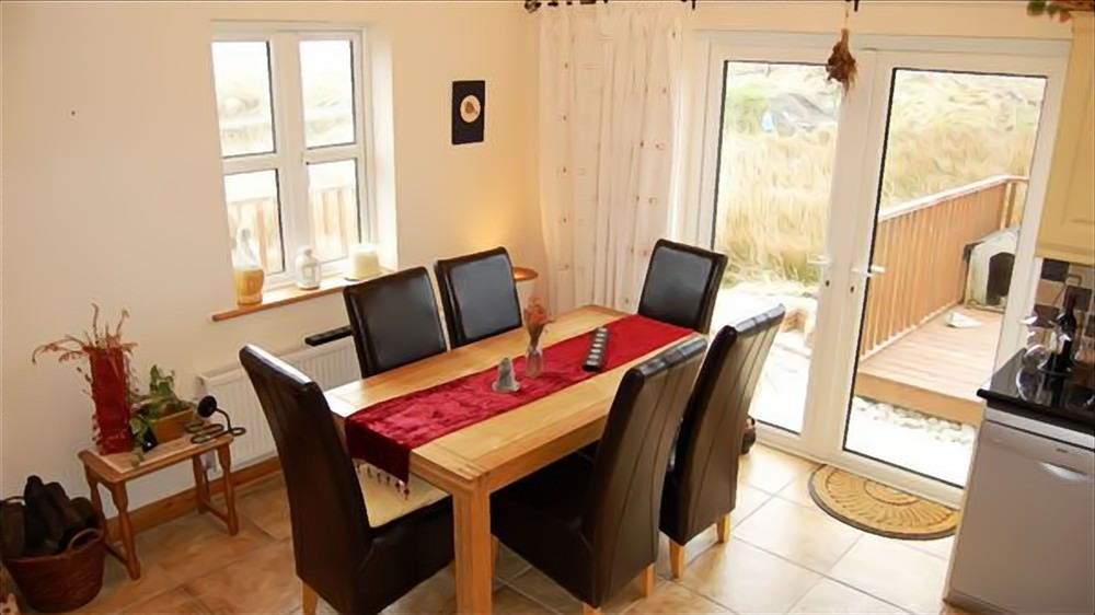 Dining area of Cruit Island Cottage