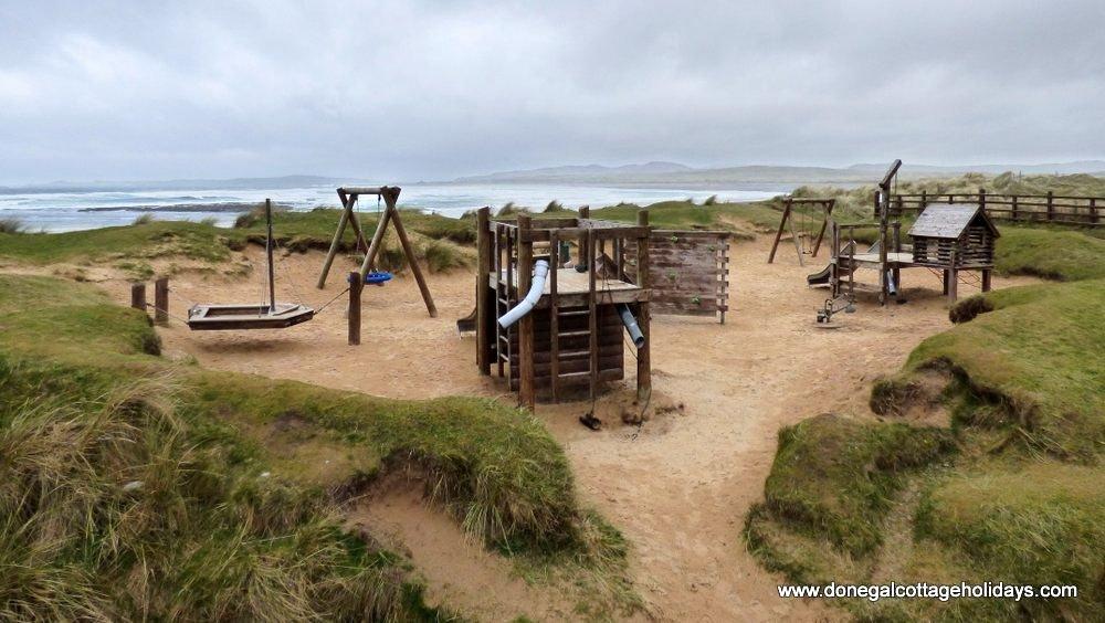 Carpenter's Holiday Home Ballyliffin - playground at Ballyliffin beach
