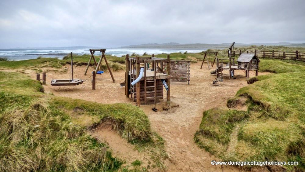 Mary Janes Cottage Ballyliffin - playground at nearby Pollan beach