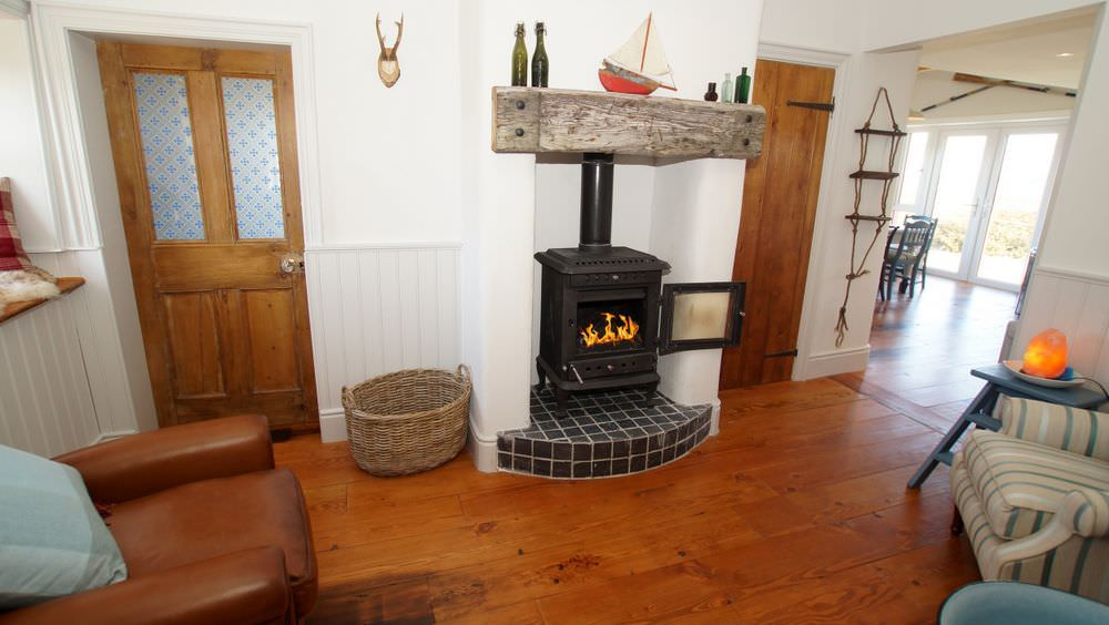 The Sea House Dungloe - solid fuel stove