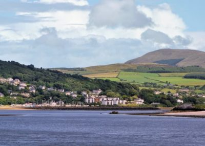 Looking back at fahan from Inch island
