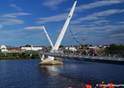 The Peace Bridge in Derry
