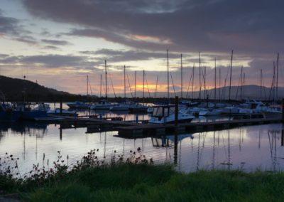 Fahan marina at sunset