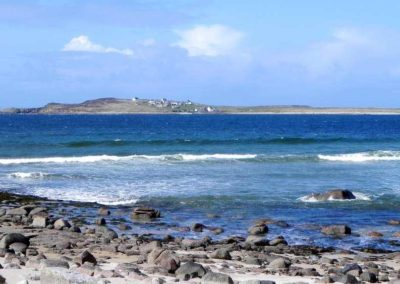 Teach Phaddy Thomais Derrybeg - view of Gola Island from west Donegal
