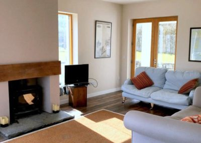 Living room - Woodhill at Sessiagh lake near Dunfanaghy