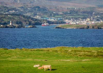 The view towards Killybegs harbour mouth from St Johns Point.
