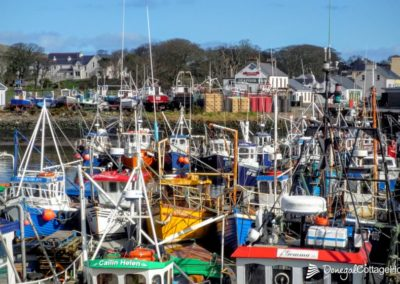 Boats at Greencastle harbour