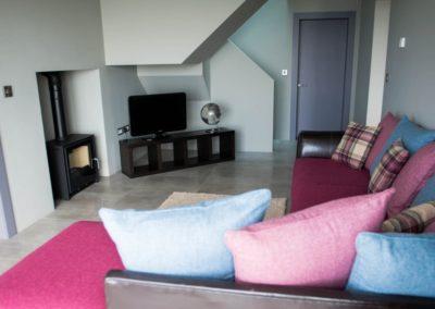 Cloud9 Redcastle Inishowen - living area on ground floor