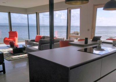 Cloud9 Redcastle Inishowen - view from the kitchen and living area