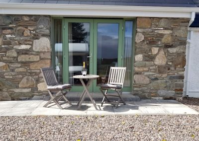 Joe's Cottage Cloughan Donegal - Patio to Master Bedroom