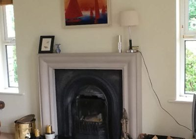 The Beeches Greencastle Inishowen - open fireplace in living room