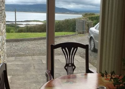 The Beeches Greencastle Inishowen - view from dining area