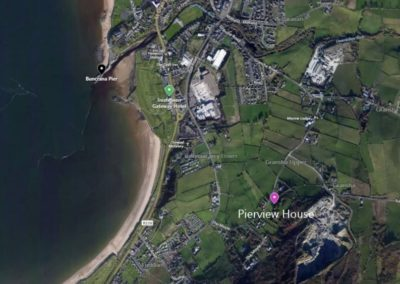 Pierview House Buncrana - aerial view of location