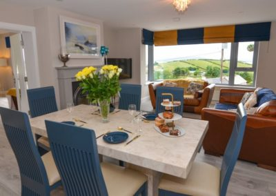 Pierview House Buncrana - dining and living areas
