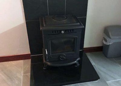 Farm Cottage Dunfanaghy - solid fuel stove