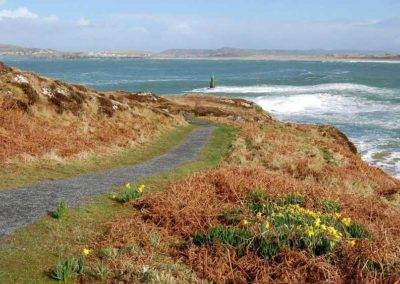 The coastal footpath at nearby Ards Friary