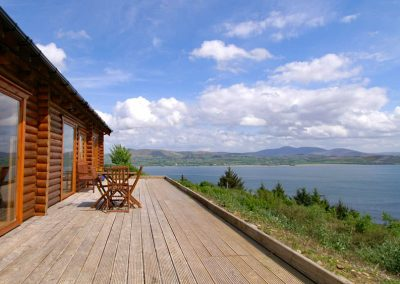 Inniskill Lodge Rathmullan - deck area