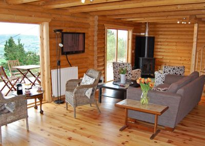Interior leading to deck area at Inniskill Lodge Rathmullan
