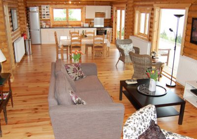 Main living area of Inniskill Lodge Rathmullan