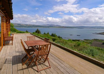 View from deck of Inniskill Lodge Rathmullan