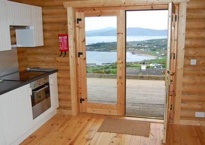 View from kitchen area - Inniskill Lodge Rathmullan