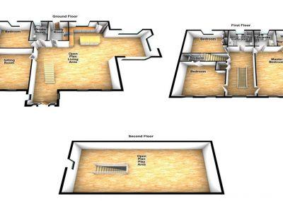 Lake Side Retreat Donegal - floor plan