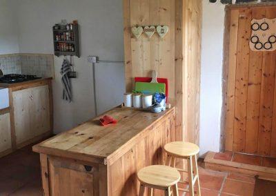 Seaside Thatch Cottage kitchen interior