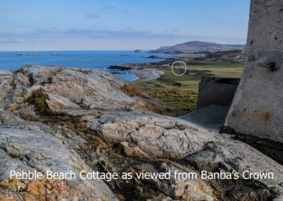 Pebble Beach Cottage as viewed from Banbas Crown