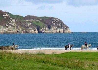 Pony Trekking on Killahoey beach