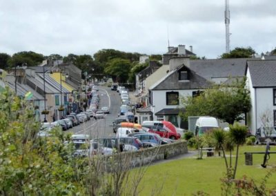 The holiday home is 300 metres from Dunfanaghy Main Street