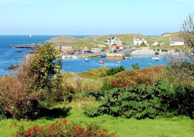 The quaint harbour at nearby Portnablagh