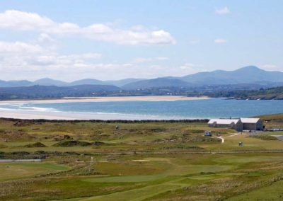 A view over the Rosapenna Golf Resort towards Tramore Strand and Sheephaven Bay