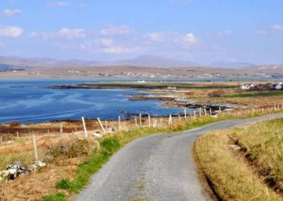 The holiday home is located along the Wild Atlantic Way in West Donegal