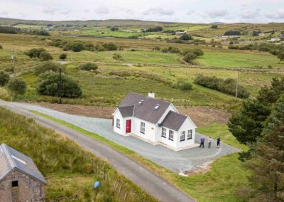 Aerial view of the Station House Fintown Co Donegal